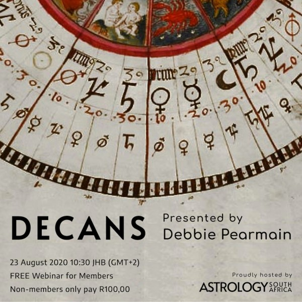 Decans - Presented by Debbie Pearmain - Astrology South Africa - Post art