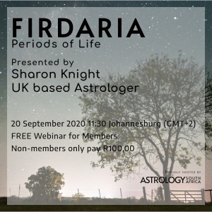 ASA Live Webinar - Firdaria by Sharon Knight - Astrology South Africa - Post art